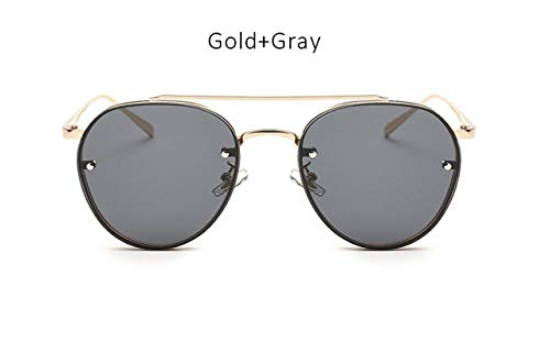 Gold Gray Ray Clear Lens Shopystore Round Sunglasses Tshing Fashion VqpSUzM
