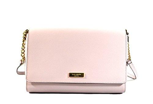 Kate Spade Alek Tilden Place Saffiano Leather Crossbody Bag Purse Handbag, Plum Dawn Light Pink