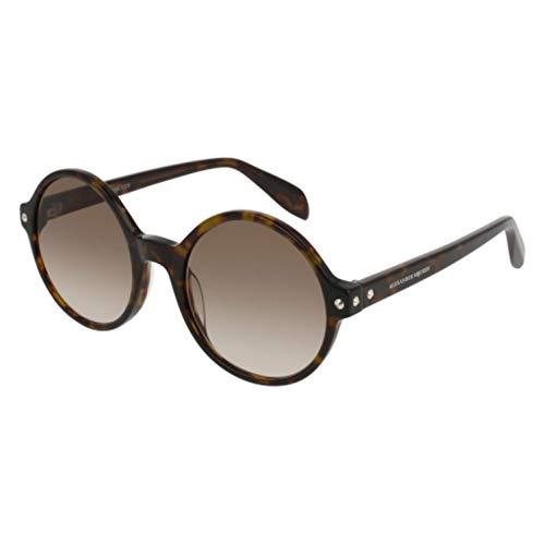 Para Sol 002 Mujer Am0073s Alexander 002 De Gafas 52 Mcqueen Marrón brown avana xwB4B0Fq