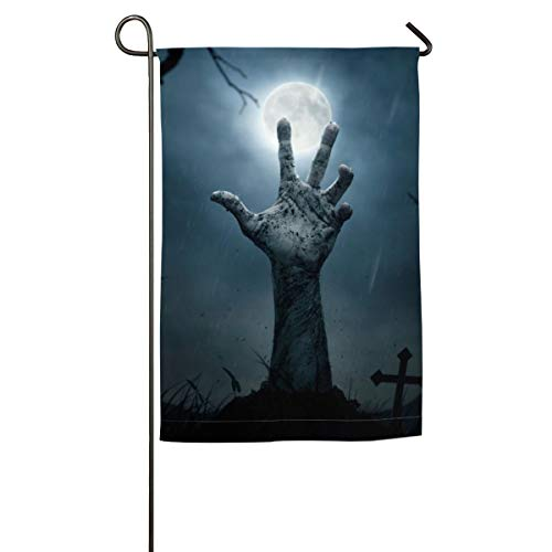 HenSLK Halloween Zombie Hand Vertical House Flag,Garden Flag,Home Flag,Indoor Flag Yard Indoor & Outdoor Decoration 12x18inch & 18x27inch -