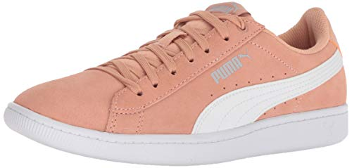(PUMA Women's Vikky Sneaker, Dusty Coral White, 8 M US)