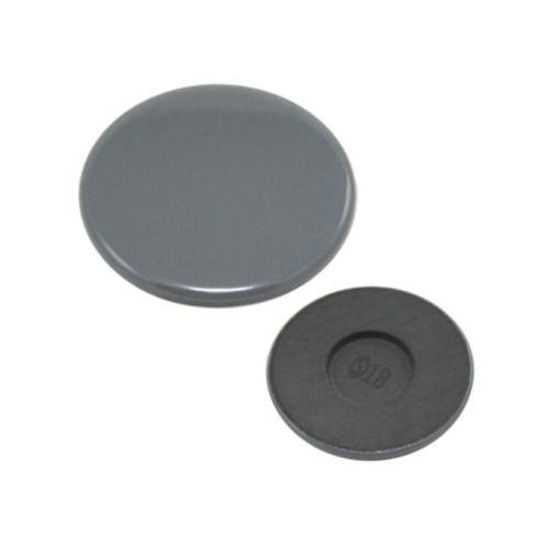 (Whirlpool W3191903 Range Surface Burner Cap, Left Rear and Right Front (Gray) Genuine Original Equipment Manufacturer (OEM) Part Gray)