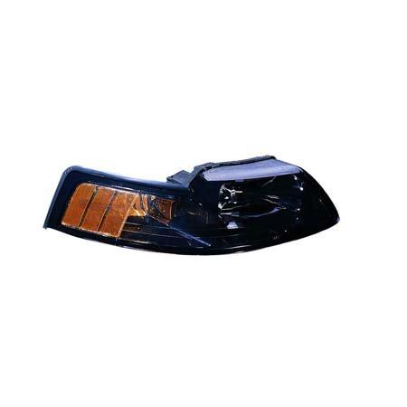 Fits Ford Mustang 2001-2004 Headlight Unit Black Bezel Passenger Side (CAPA Certified) ()