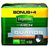 Mckesson Depend Guards For Men by Kimberly-Clark 52/PACK 	2 Pack / Case