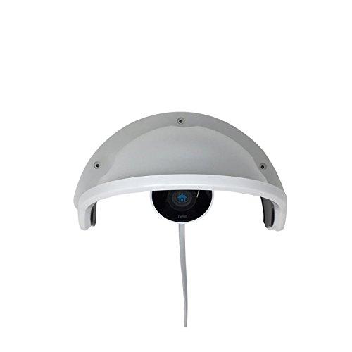 Kenuco Universal Sun Rain Shade Camera Cover Shield For Outdoor Nest Cam (Security Surveillance Box Camera)