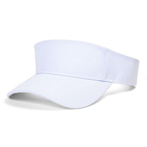 Solid Sports Blank Visor , White