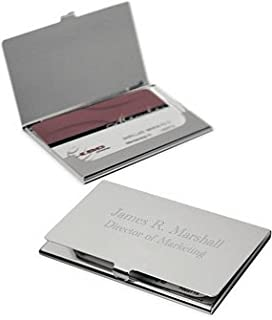 business card holder free engraving - Custom Business Card Holder