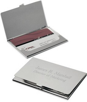 Amazon.com : Business Card Holder Free Engraving : ?business Card ...