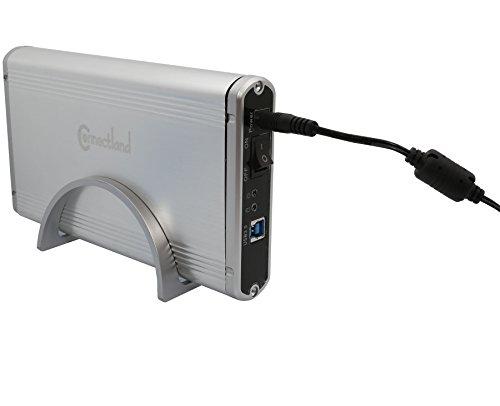 I/O Crest SY-ENC35016 USB V3.0 External Enclosure for 3.5-Inch SATA Hard Disk (Silver)