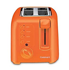 cuisinart compact cool touch 2 slice toaster orange home kitchen. Black Bedroom Furniture Sets. Home Design Ideas