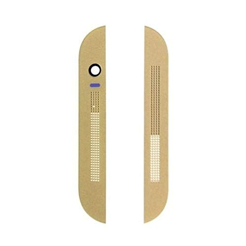 Foir Mesh Top Front Camera Cover With Bottom Bezel Housing Glacial for HTC One M8 831C Gold ()