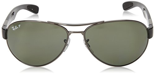 cf5683f99a Amazon.com  Ray-Ban RB3509 - GUNMETAL Frame POLAR GREEN Lenses 63mm  Polarized  Ray-Ban  Clothing