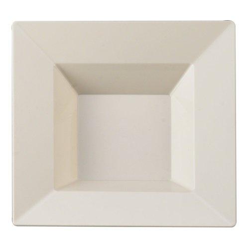 Table To Go 'I Can't Believe It's Plastic' 50-Piece Plastic Bowl Set | Square Collection | Heavy Duty Premium Plastic…