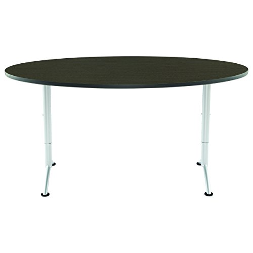 Iceberg ICE69625 ARC 6-foot Adjustable Height Oval Conference Table, 36'' x 72'', Gray Walnut/Silver Leg by Iceberg (Image #3)