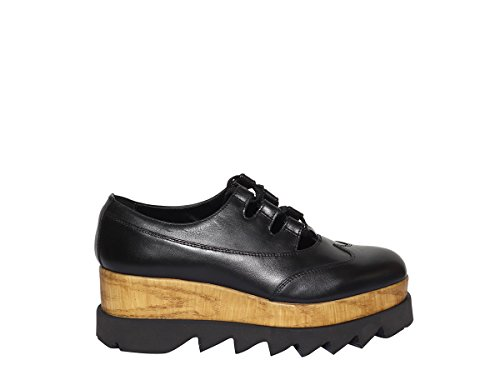 Scarpe Alice 2018 Estate Donna Allacciata CLE103327 Black Cult Primavera ACK Leather Low UAgdUq