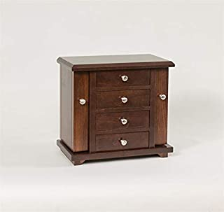 "product image for DutchCrafters Amish 13"" Dresser Top Jewelry Cabinet (Brown Maple - OCS 228)"