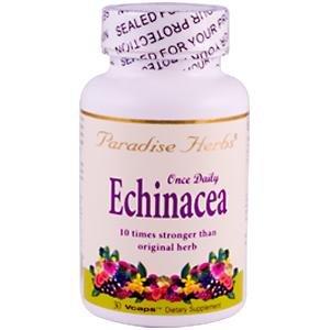 Paradise Herbs Echinacea Vegetarian Capsules, 30 Count