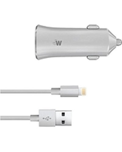 Just Wireless 10W Car Charger with Lightning Cable 8 pin, Apple MFi-Certified high speed iPhone Car Charger and sync for iphone -