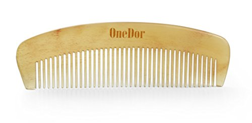 OneDor Handmade 100% Premium Quality Natural Sheep Horn Anti-Static Hair Comb Without Handle by Onedor (Image #2)