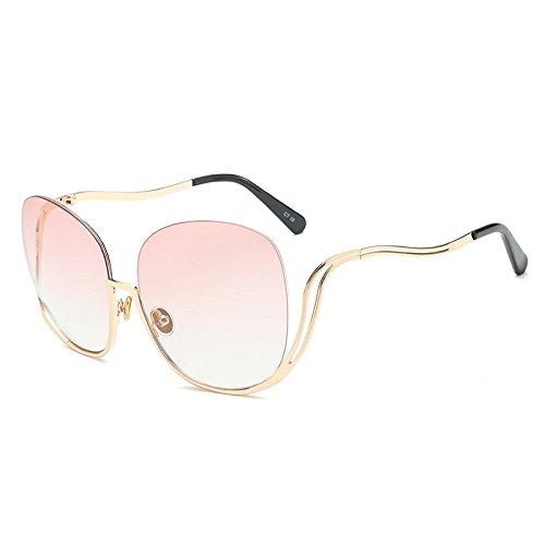 Individualidad Grandes KlaPe G Caja Mujeres Las Sol De Gafas Medio De Grande Gafas Tendencia Gafas Moda De Marco Conducción C Visera Espejo Sol wxnqw1rPO5