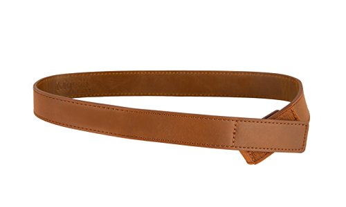 Myself Belts - Distressed Brown Leather Belt for Kids and Toddlers (6) (Distressed Kids Leather)