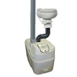 Electric Composting Toilet (Sun-Mar Centrex 1000 Non-Electric Waterless Ultra Low Flush Central Composting Toilet System in Bone)