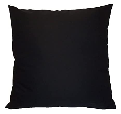 Amazon.com: Negro cojín de algodón – tamaño grande 25.6 x ...