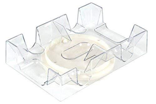 (2 Deck Revolving Rotating Canasta Playing Card Tray, 2 Pack)
