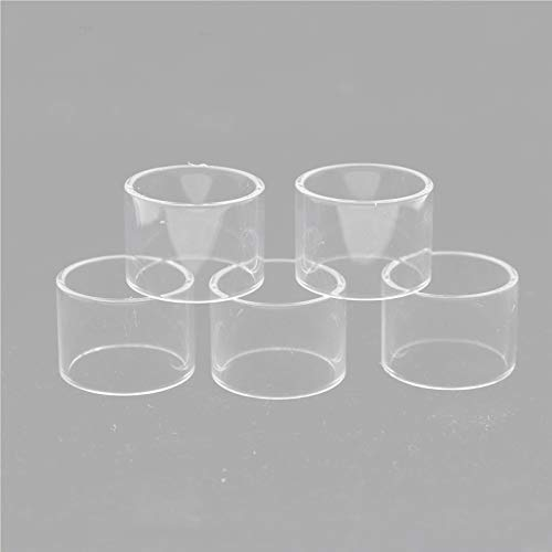 RUIYITECH Straight Replacement Glass Tank pyrex Replacement glass tube for DIGIFLAVOR Siren 2 MTL 22MM 2ML (5 pack)
