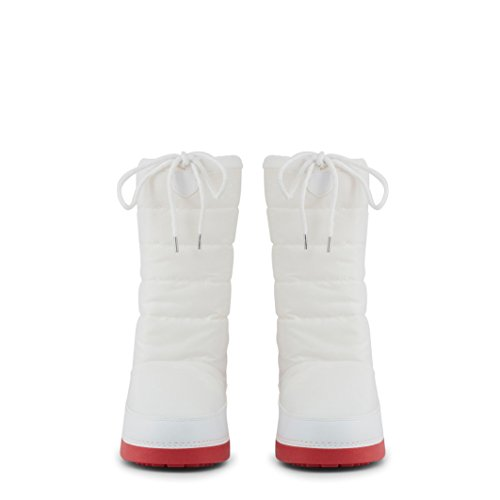 Logo Womens Moschino Boot White Love Snow Red 4SfYn