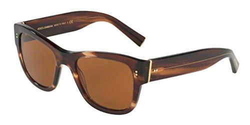 Dolce & Gabbana Men's DG4338 Striped Brown/Brown One Size (Dolce Gabbana Sonnenbrille Herren)