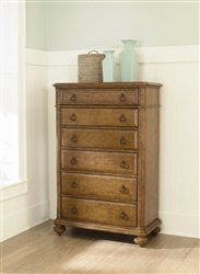 American Drew Grand Isle 6 Drawer Chest in Amber Finish - Burnished Amber Finish