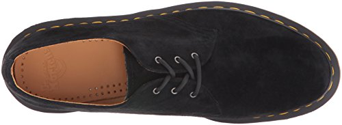Dr. Martens 1461 Soft Buck, Scarpe Stringate Basse Brogue Unisex-Adulto Black