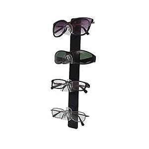Marketing Holders 4 Tier Acrylic SUNGLASSES EYEGLASSES display with Black Back Glasses Nose