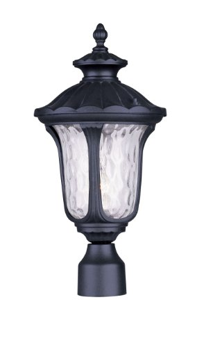 Livex Lighting 7855-04 Oxford 1 Light Outdoor Post Head, Black by Livex Lighting