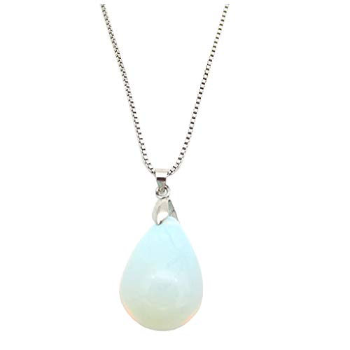 MIXIA Floating Natural Opal Mermaid Necklace Mermaid's Tears Sea Sand Waterdrop Pendant Necklace Jewelry