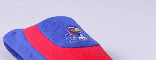College Low Womens Mens Kansas NCAA Jayhawks Slippers OFFICIALLY and Happy Pro Feet LICENSED wxanfqOp04