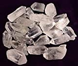 Raw Unpolished Brazilian Quartz Crystal Points Healing Stones Metaphysical One Pound Medium Sized