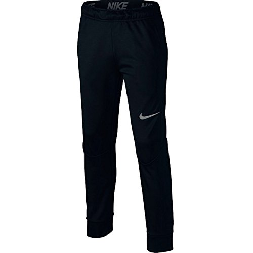 Nike Boy's Therma Big Kids' Training Pants (Large, Black/Dark Steel Grey)