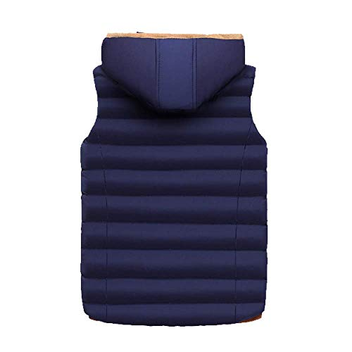 Down Autumn Stylish Darkblue and Warm DYLBD Men's Vest Winter Wild Xqdxf0
