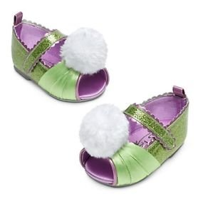Disney Costume Tinkerbell Shoes - Open-Toed - 12-18 Months - Baby Girl (Tinker Bell Shoes)