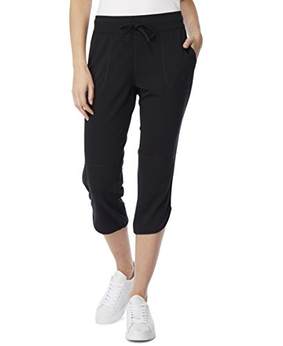 32 DEGREES Women Capri Pants, Black, Small