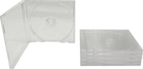 5 Standard Empty Clear Replacement CD Jewel Boxes with Clear Inner Trays (Assembled) #CDBSIS