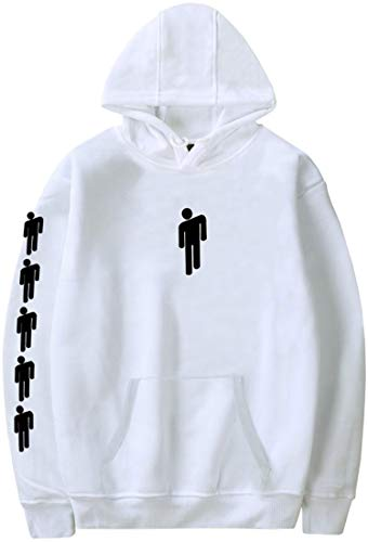 Sweatshirt Arms - EmilyLe Billie Eilish Women Hoodie Bored Pullover Fashion Long Sleeve Sweatshirt(165-170cm(M),White Arm-1)