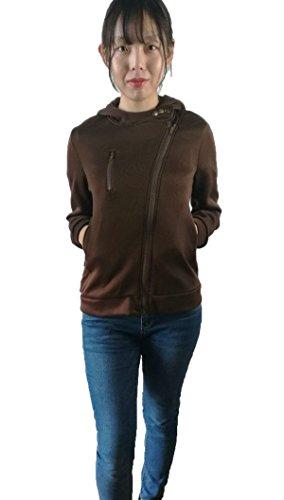 hqclothingbox Women Slim Fit Fleece Zip-up Hoodie Jacket with Zipper Point