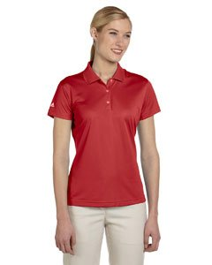 adidas Golf Ladies ClimaLite Pique Short-Sleeve Polo - University Red A131 XX-Large by adidas