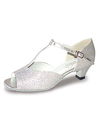 Roch Valley Aduo Standard Tanzschuhe Silber Glitzend 5L (38)