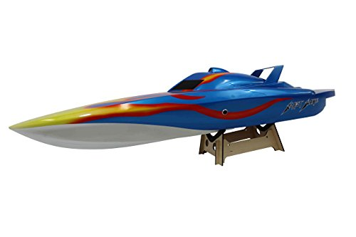 Flying Gadgets Blast Wave Single Hull 26cc Petrol Glass Fibre 2.4GHz Speed Boat (Blue)