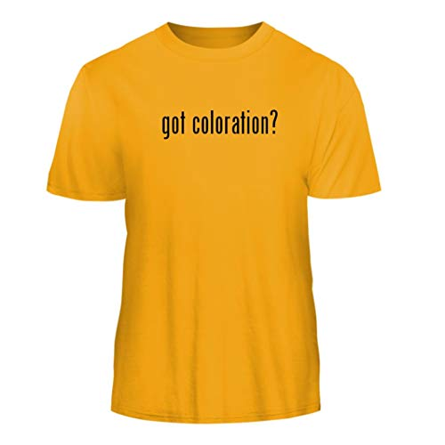 (Tracy Gifts got Coloration? - Nice Men's Short Sleeve T-Shirt, Gold,)