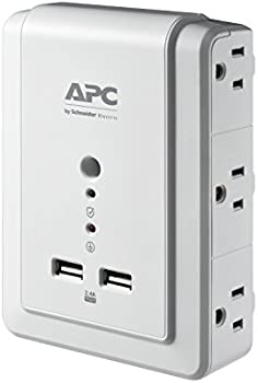 APC P6WU2 6-Outlet 2 USB Charging Ports Wall Surge Protector